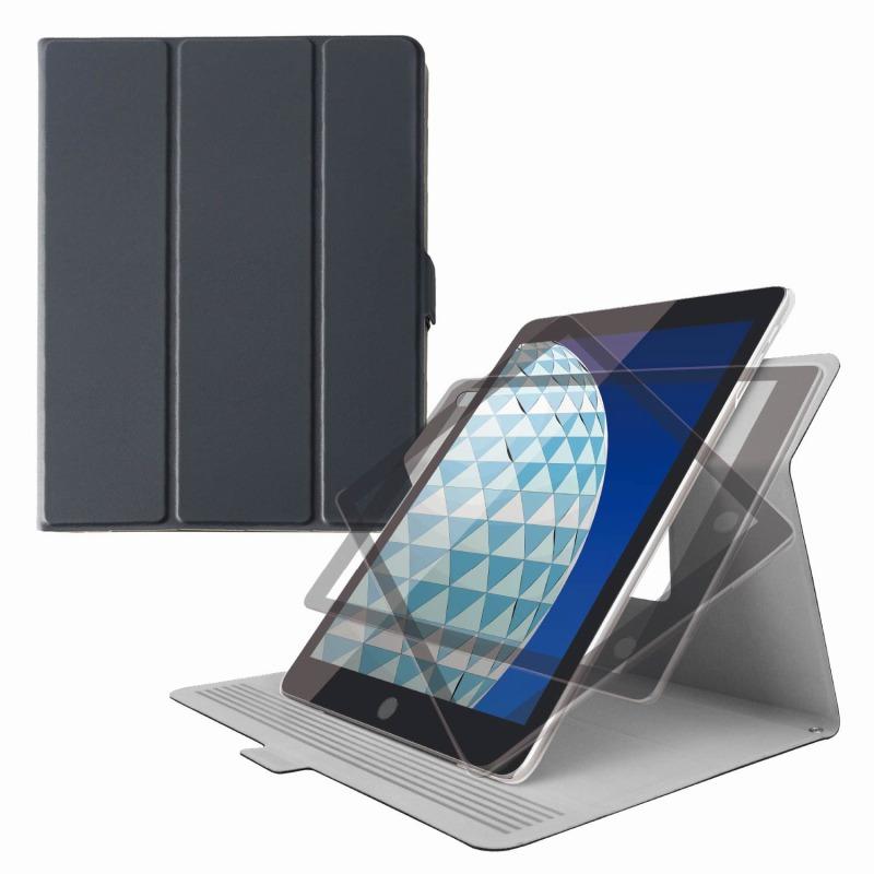 【ELECOM(エレコム)】iPad Air 2019年モデル/iPad Pro 10.5インチ 2017年モデル/フラップカバー/ソフトレザー/360度回転/超軽量/スリープ対応/ブラック [▲][EL]