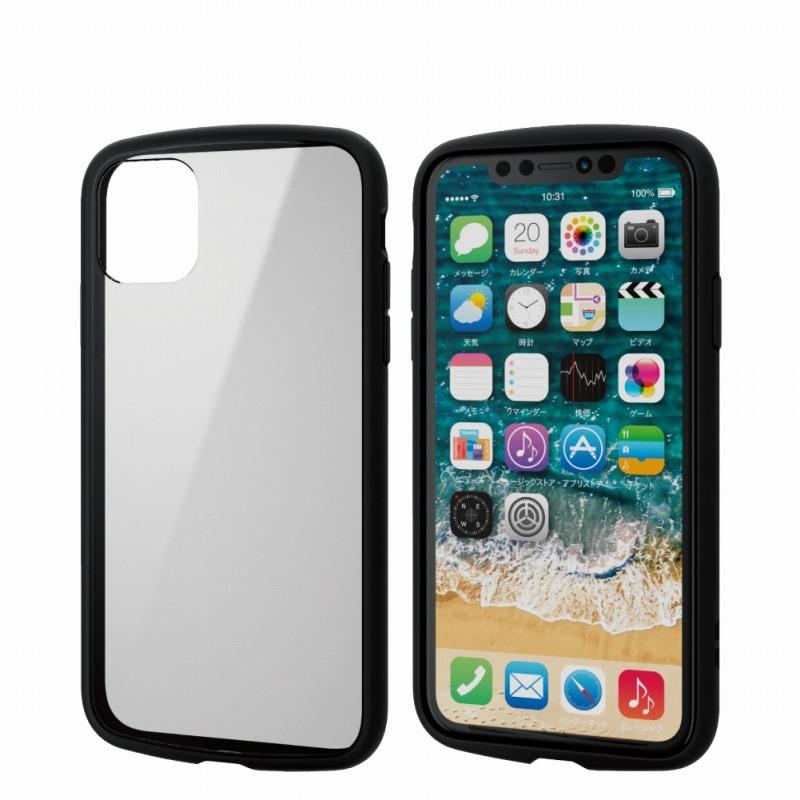 【ELECOM(エレコム)】iPhone 11/TOUGH SLIM LITE/フレームカラー/ブラック [▲][EL]
