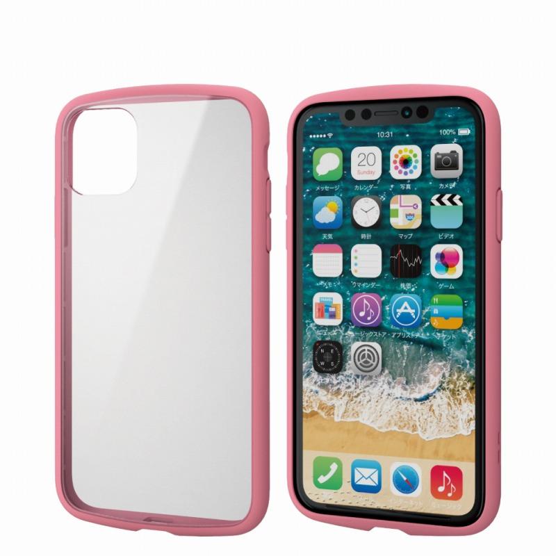 【ELECOM(エレコム)】iPhone 11/TOUGH SLIM LITE/フレームカラー/ピンク [▲][EL]