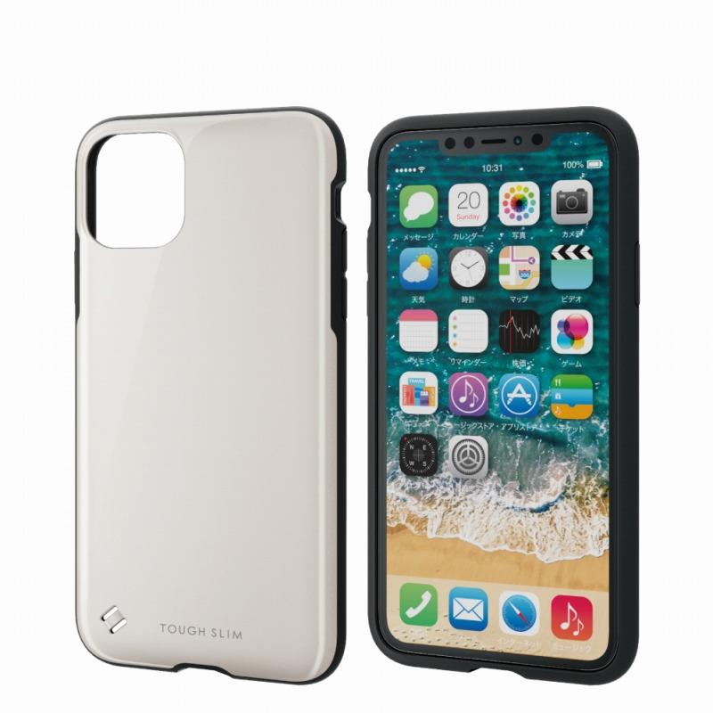 【ELECOM(エレコム)】iPhone 11 Pro Max/TOUGH SLIM2/ホワイト [▲][EL]