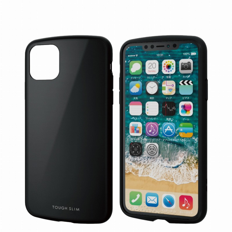 【ELECOM(エレコム)】iPhone 11 Pro Max/TOUGH SLIM LITE/ブラック [▲][EL]