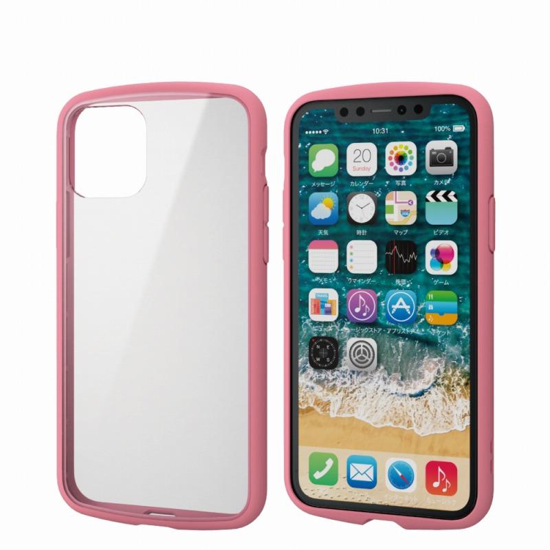 【ELECOM(エレコム)】iPhone 11 Pro/TOUGH SLIM LITE/フレームカラー/ピンク [▲][EL]