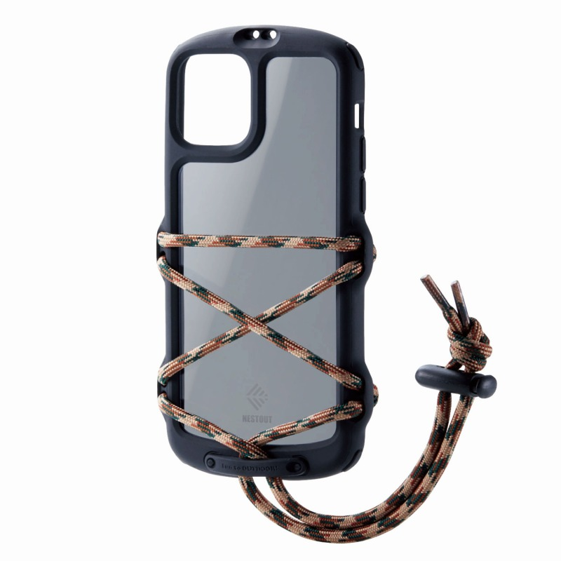 【ELECOM(エレコム)】iPhone 11 Pro/NESTOUT/Fes & Camp/ブラック [▲][EL]