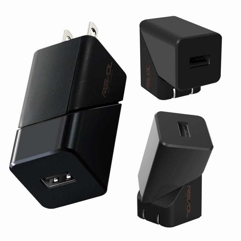 【ELECOM(エレコム)】スマートフォン・タブレット用AC充電器/2.4A出力/USB-Aメス1ポート/おまかせ充電搭載/回転式機能搭載/ブラック [▲][EL]