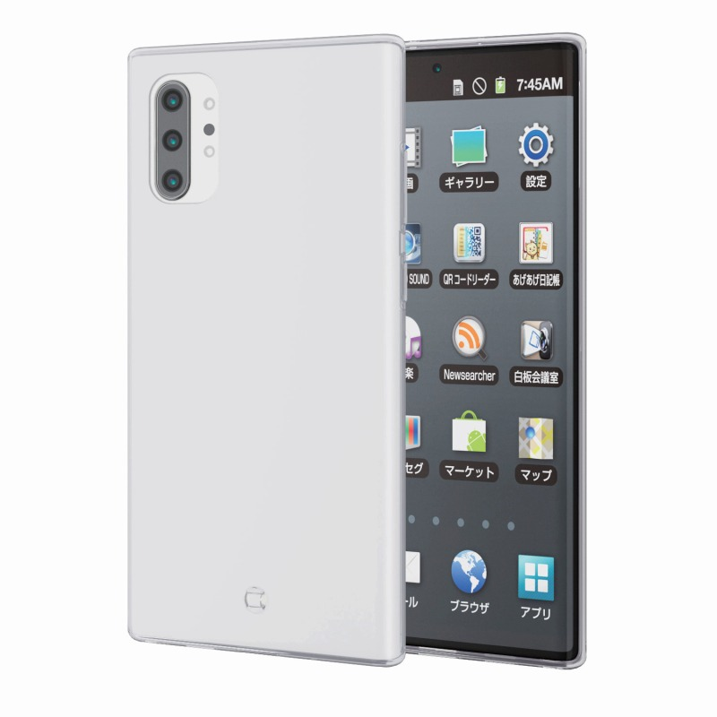 【ELECOM(エレコム)】Galaxy Note10+/ソフトケース/極み/クリア [▲][EL]