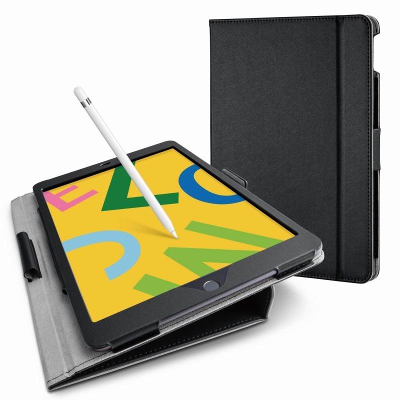 【ELECOM(エレコム)】iPad 10.2 2019年モデル/フラップケース/ソフトレザー/ドローイングアングル/軽量/ブラック [▲][EL]