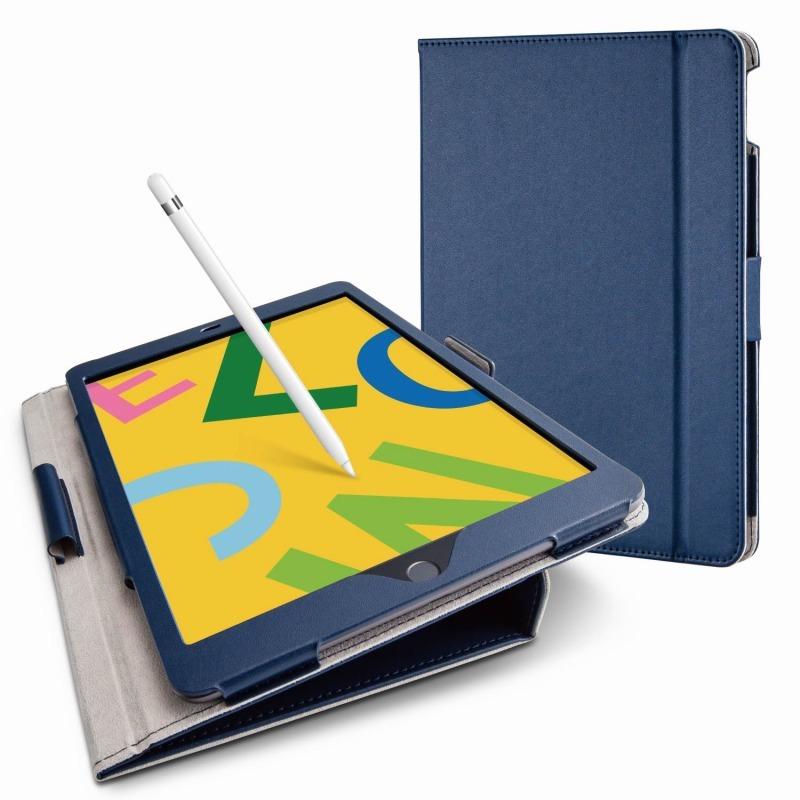 【ELECOM(エレコム)】iPad 10.2 2019年モデル/フラップケース/ソフトレザー/ドローイングアングル/軽量/ネイビー [▲][EL]