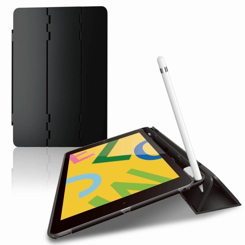 【ELECOM(エレコム)】iPad 10.2 2019年モデル/ハードフラップケース/スリープ対応/ブラック [▲][EL]