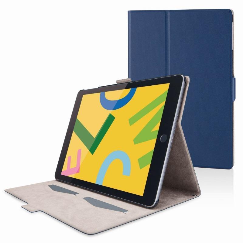 【ELECOM(エレコム)】iPad 10.2 2019年モデル/フラップケース/ソフトレザー/フリーアングル/スリープ対応/ネイビー [▲][EL]