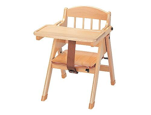 クッションシート1枚付き!木製ベビーチェア