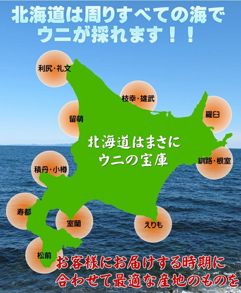 北海道産生うにをお届け!