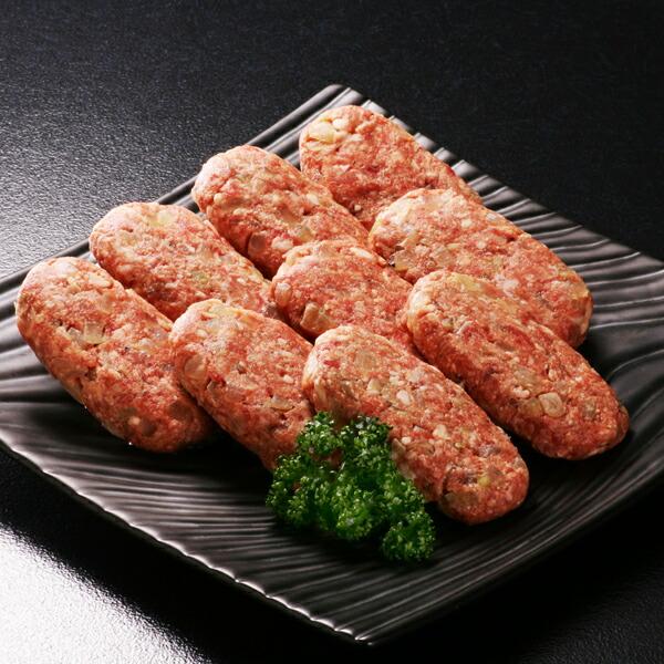 阿部牛肉加工 白老ハンバーグセットE 9枚(合挽ハンバーグ約100g×9枚) 【冷凍商品】