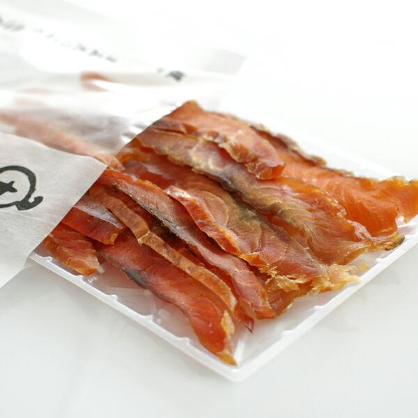 汐彩千島工房 魚醤 鮭とば薄造り 46g