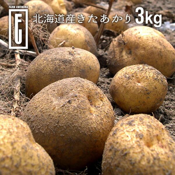 ファームウメムラ 北海道産 完熟きたあかり 3kg