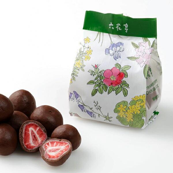 六花亭 ストロベリーチョコ ミルク【袋入】 80g(約7粒入)