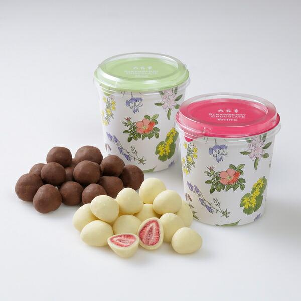 六花亭 ストロベリーチョコ 2種セット(約130g 各1個)