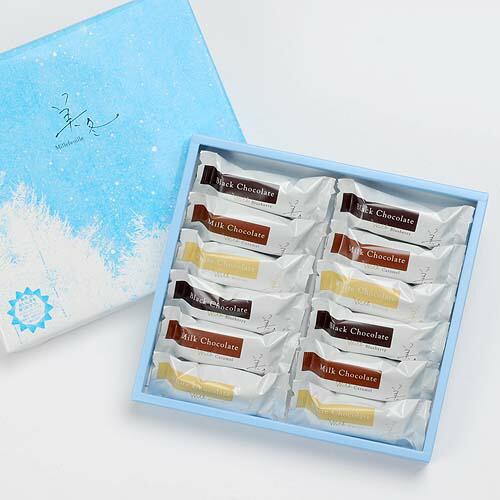 石屋製菓 美冬(みふゆ) 12個入(ブルーベリー・キャラメル・マロン 各4個)