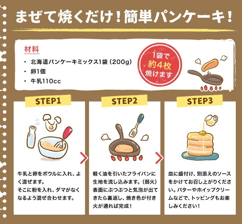 まぜて焼くだけ!簡単パンケーキ!