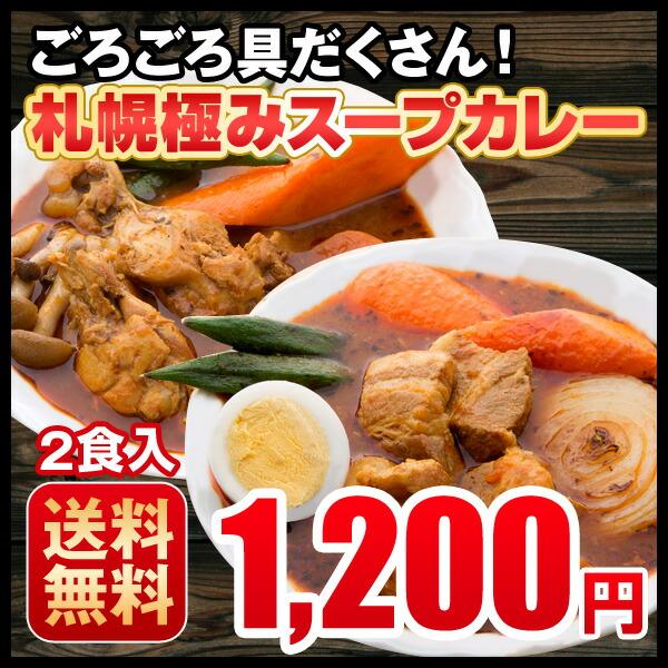 札幌極みスープカレー 2食