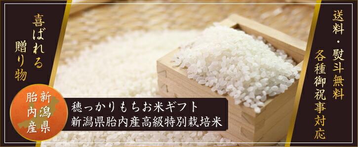 穂っかりもちお米ギフト新潟県胎内産高級特別栽培米