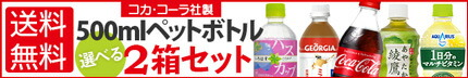 コカ・コーラ社製500mlペットボトル選べる2箱セット