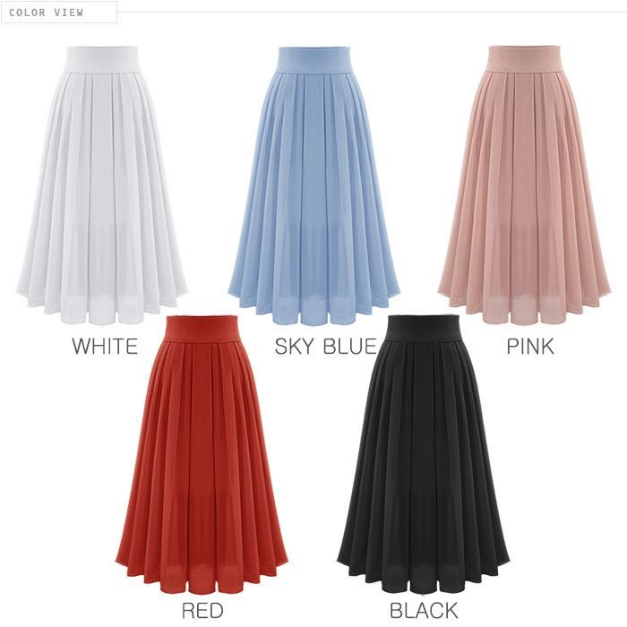 bee-es shop | Rakuten Global Market: Chiffon flared skirt Maxi ...