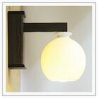 白磁丸ブラケットライト照明