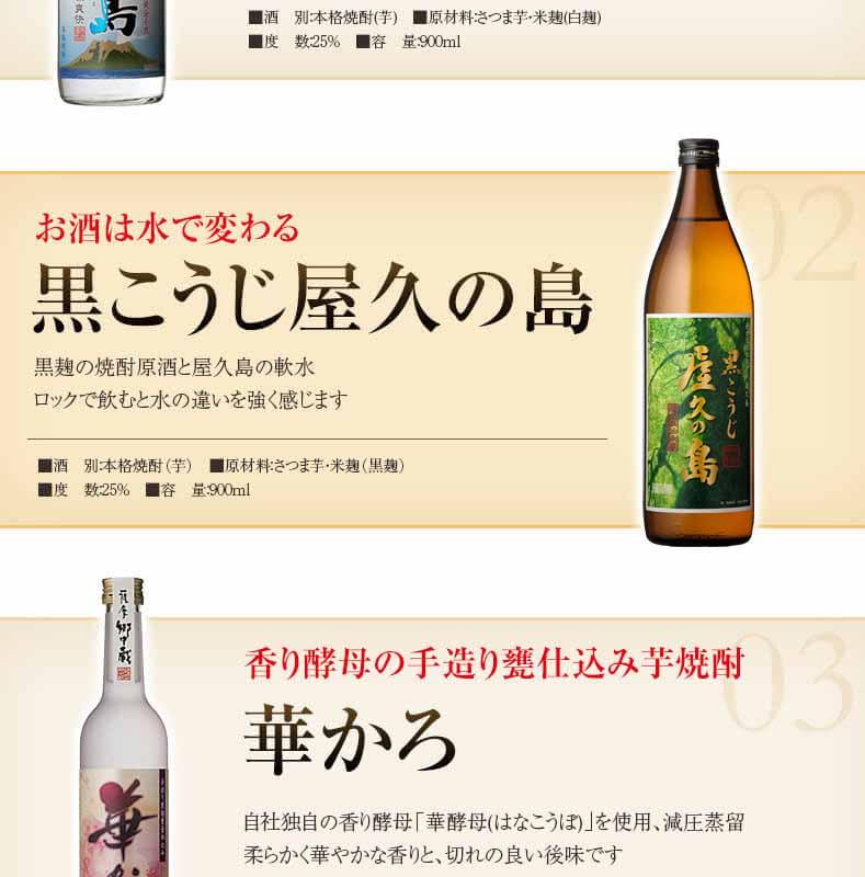 冷やして美味しい 青天桜島 お酒はお水で変わる 黒こうじ屋久の島