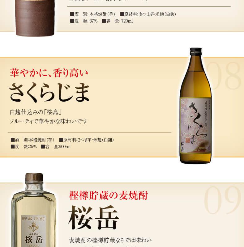 華やかに、香り高い さくらじま 樫樽貯蔵の麦焼酎 桜岳