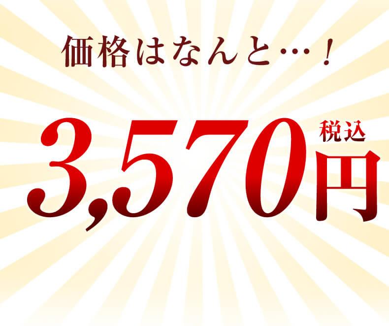 価格はなんと3570円