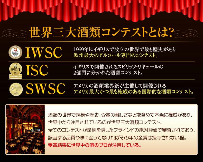 世界三台種類コンテストとは? IWSC ISC SWSC