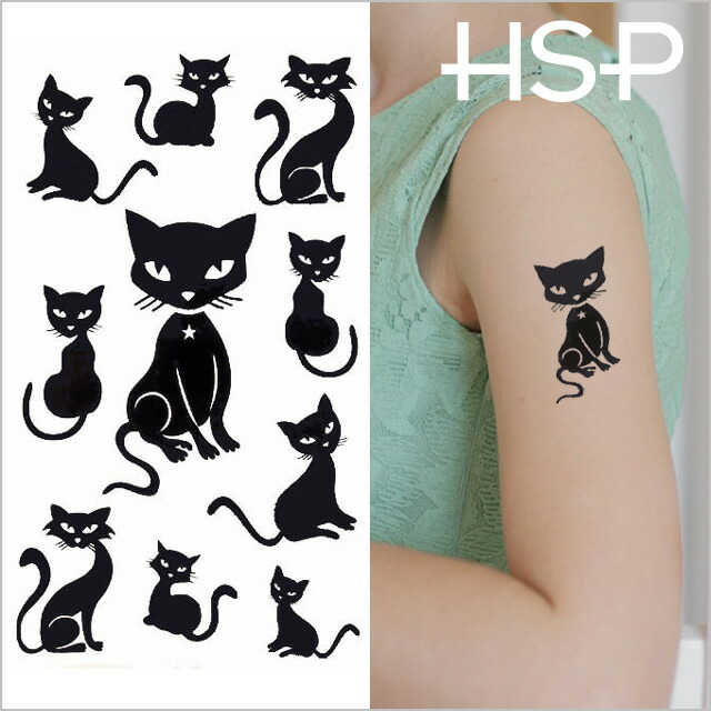 09bc8d81a HOMESLICEPRODUCTIONS: Tattoo sticker black cat 2 tattoo Sir ...