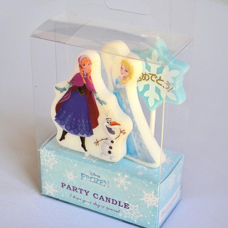 ディズニー キャラクター パーティー キャンドル「アナと雪の女王」