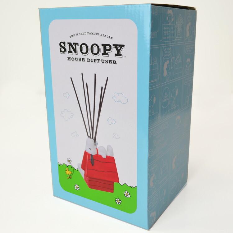 SNOOPY ディフューザー「ハウス」グリーンアップルの香り ピーナッツ スヌーピー
