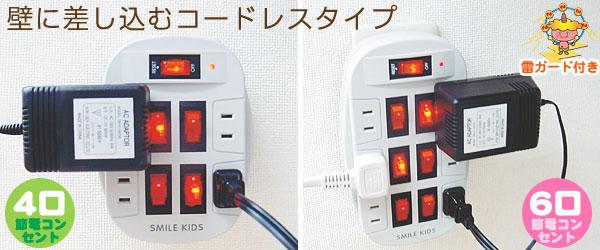 雷ガード付節電コンセント