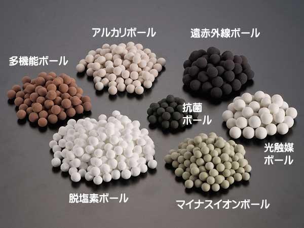 7種類のセラミックスボール