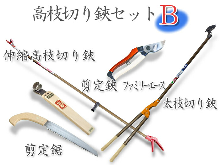 日本製高枝切鋏Bセット