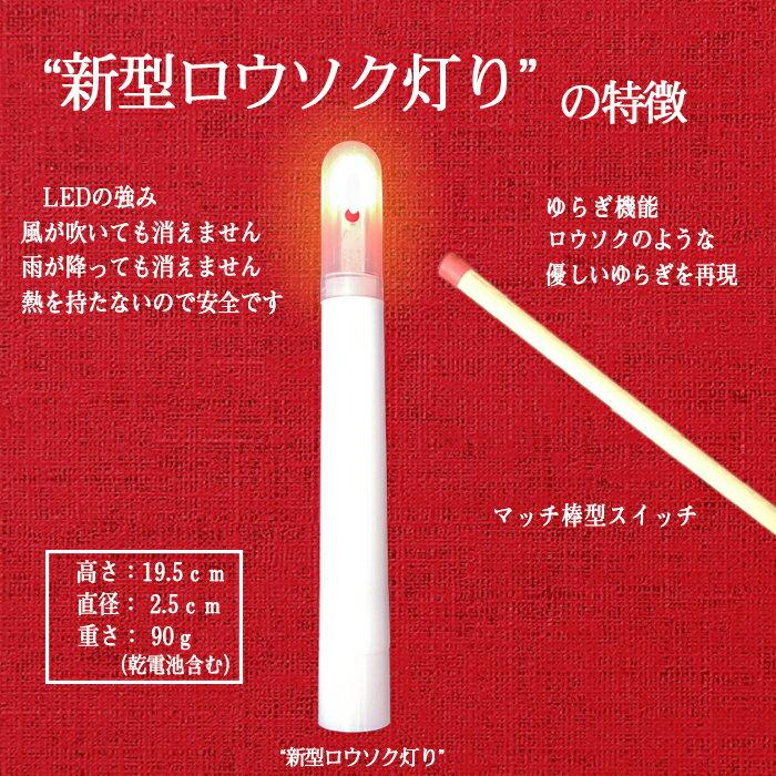 新型LEDロウソク灯り02