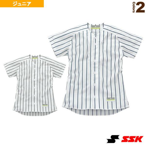 ジュニア用・ストライプメッシュシャツ/ユニフォームシャツ(US002JM)