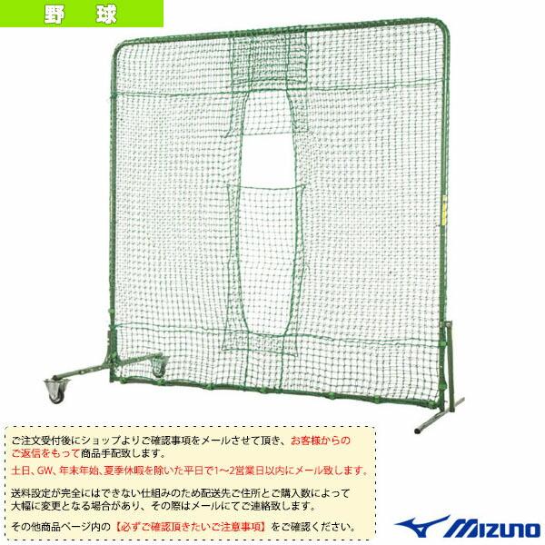 [送料お見積り]角型ティーバッティング用ダブルネット/片側キャスター付(1GJNA20900)