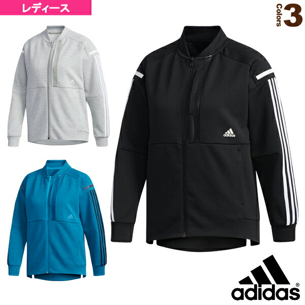 W adidas 24/7 ヘザーウォームアップジャケット/レディース(FTK79)