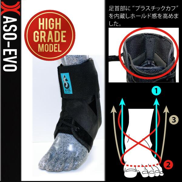 ASO-EVO 足首サポーター/ハイグレードモデル(ASO-2641)