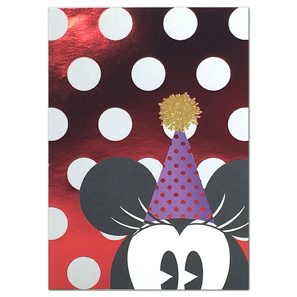 This Is A Birthday Card Pops Up To Open The And Minnie In Surface Design On Are Decorated Red Foils Processing