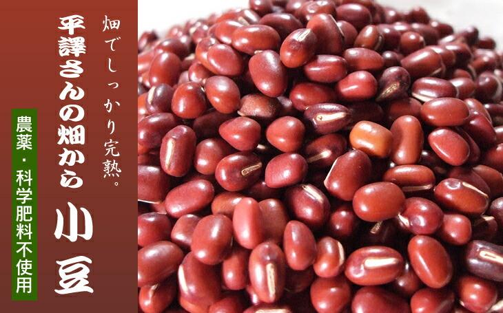 農薬・化学肥料不使用、平譯さんの畑から、小豆
