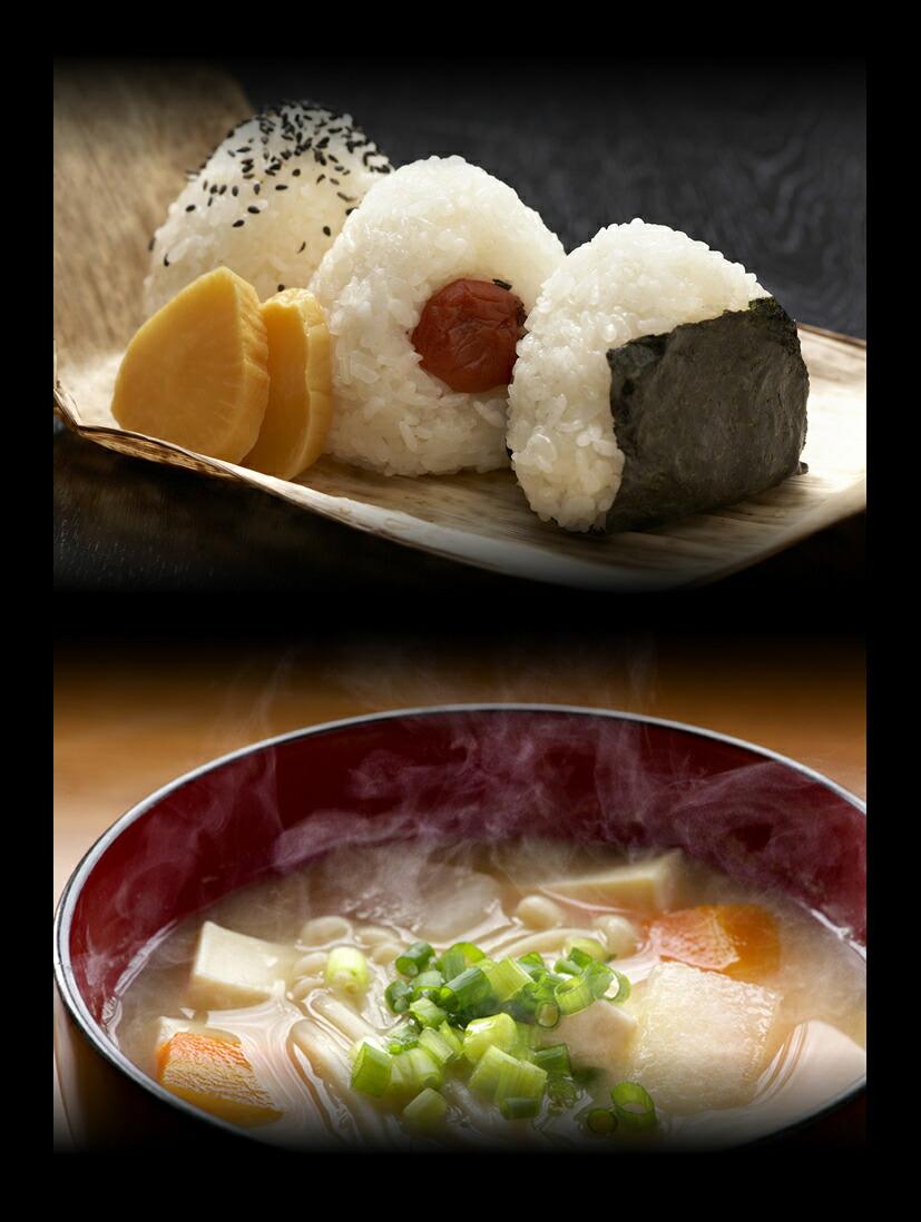 新潟産コシヒカリと天然醸造味噌