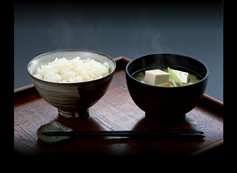 新潟産コシヒカリと天然醸造味噌, 和食イメージ