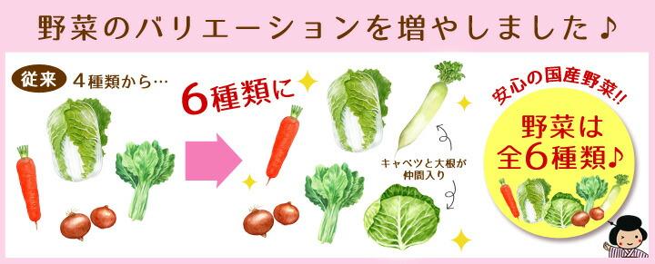 野菜の種類増
