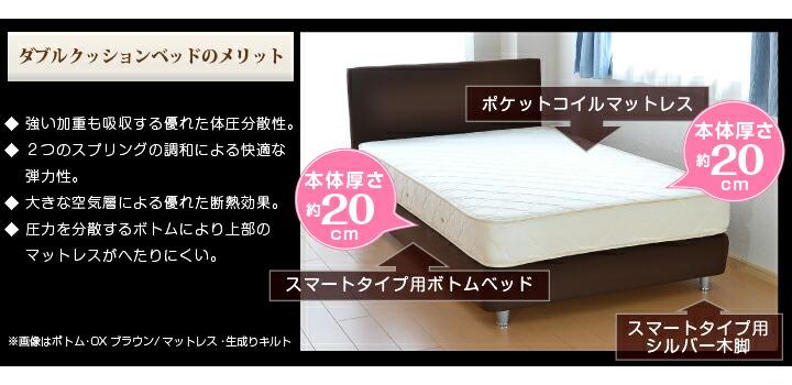 ダブルクッションベッド/スマート