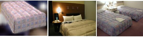 ホテル羽毛ベッドカバー ボックスタイプ