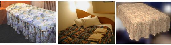 ホテル羽毛ベッドカバー(フリルタイプ)